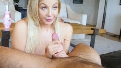 Sophia Deluxe  – Sexy blonde milf get a nice creampie